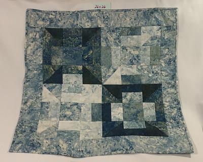 Marble motif shades of aqua squares