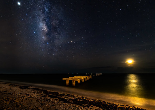 Milky Way & Moonset