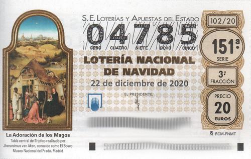Décimo de Lotería de Navidad del 2020