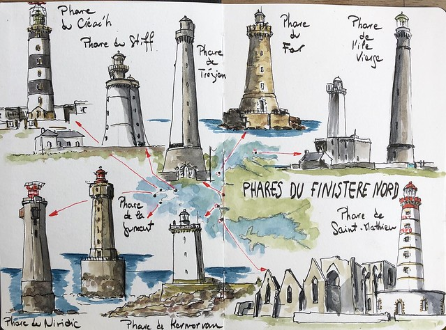 Finistere nord, phares