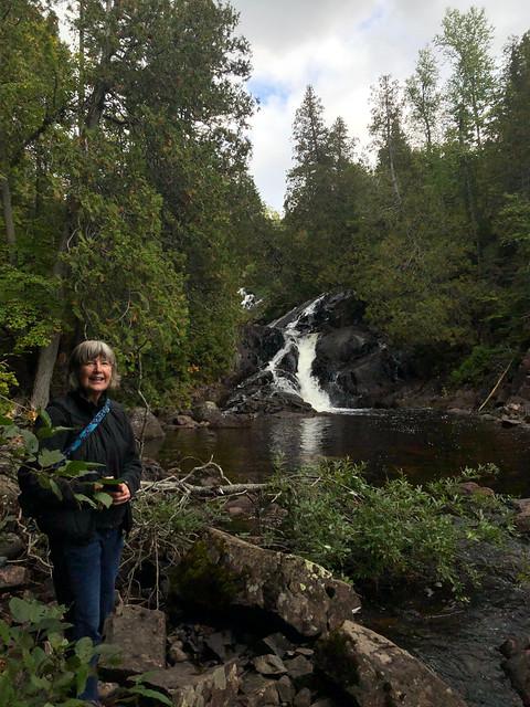 Rainbow falls PP - Linda posing pretty