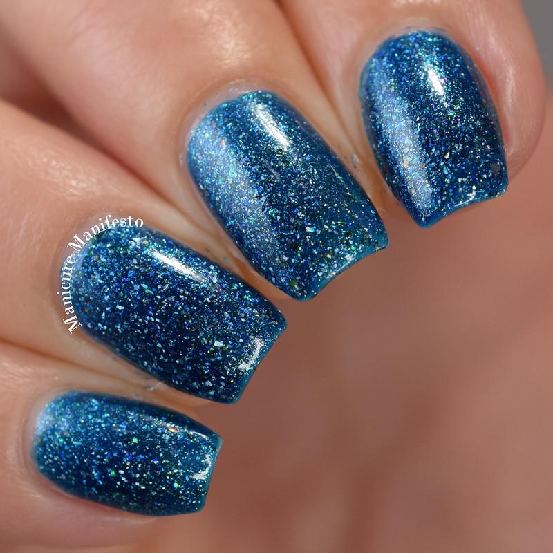 Girly Bits Cosmetics OOAK Blue Flakie Shimmer