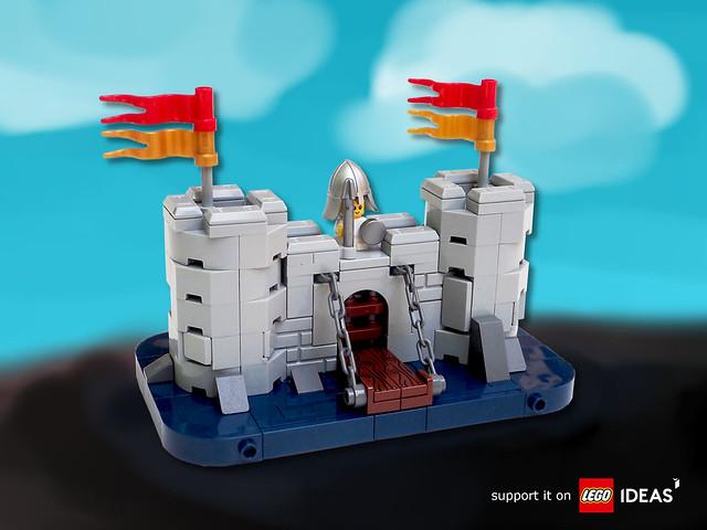 Baby Builds Castle