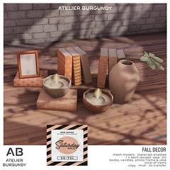 Atelier Burgundy . Fall Decor