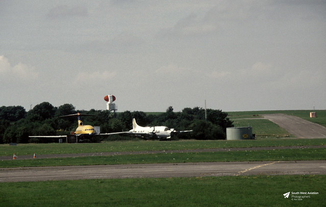 Vickers Varsity T.1 WF410 and  Hawker Siddeley Trident 2E G-AVFM Bristol International Airport, Lulsgate Bottom, Somerset