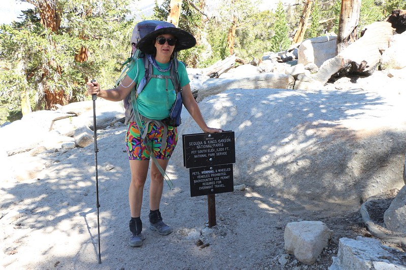 We entered Sequoia National Park near Siberian Pass on the Pacific Crest Trail - SEKI likes to use aluminum signs
