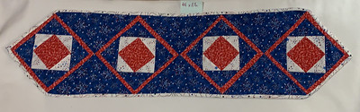 Red, white, and blue geometrics, July 4th motif
