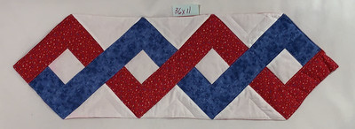 Red, white, and and blue zigzags;July 3th motif