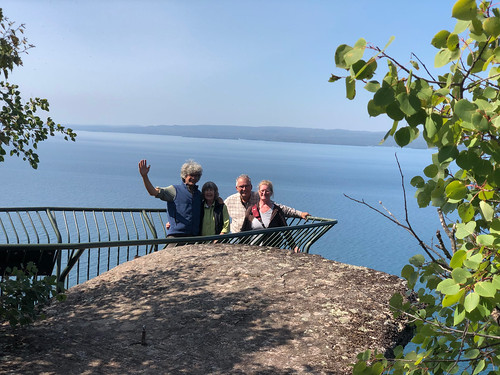 Sleeping Giant PP - four of us on the Thunder Bay Lookout
