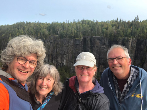 Ouimet Canyon PP - the four of us selfie