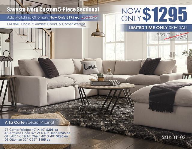 Savesto Ivory Custom 5PC Sectional_31102-64-46-77-46-65-08(2)-T536-PILLOW_2020update