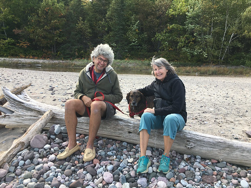 Pancake Bay PP - Pierre and Linda on a log | by Pierre Yeremian