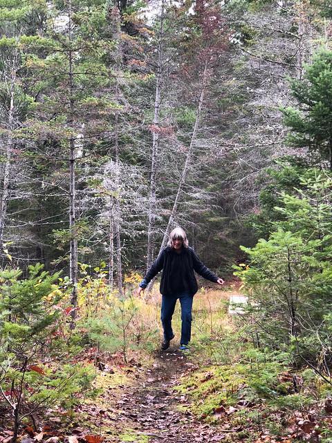 Algonquin PP - Achray -Linda on a trail