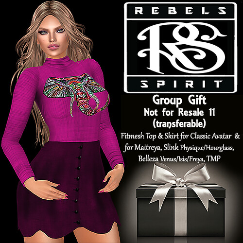 RebelsSpirit Group gift NotForResale 11 TRANSFERABLE