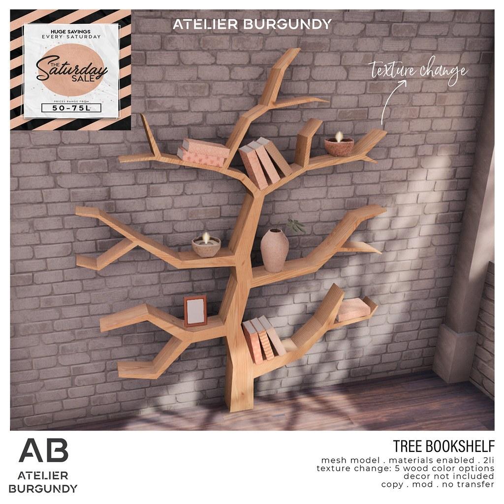 Atelier Burgundy . Bookshelf