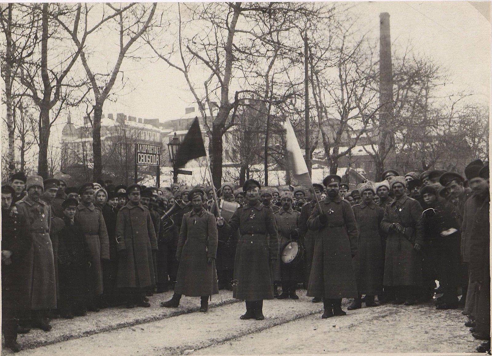 21. Март. Манифестация в Москве в дни Февральской революции