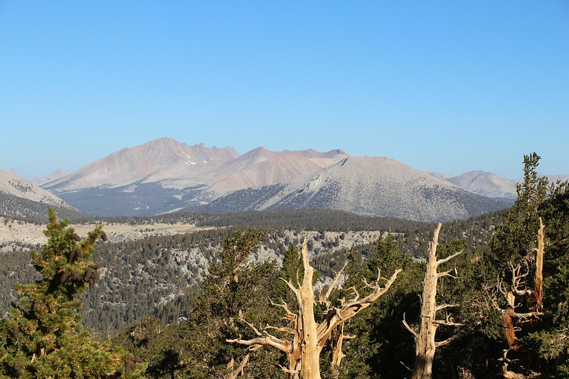 Looking northwest toward the Kaweah Range from the PCT north of Chicken Spring Lake
