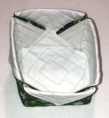 green Christmas fabric box