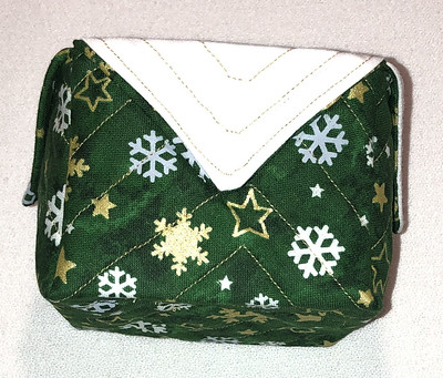 green Christmas fabric box