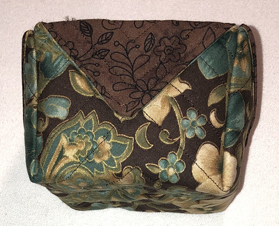 green and brown fabric box