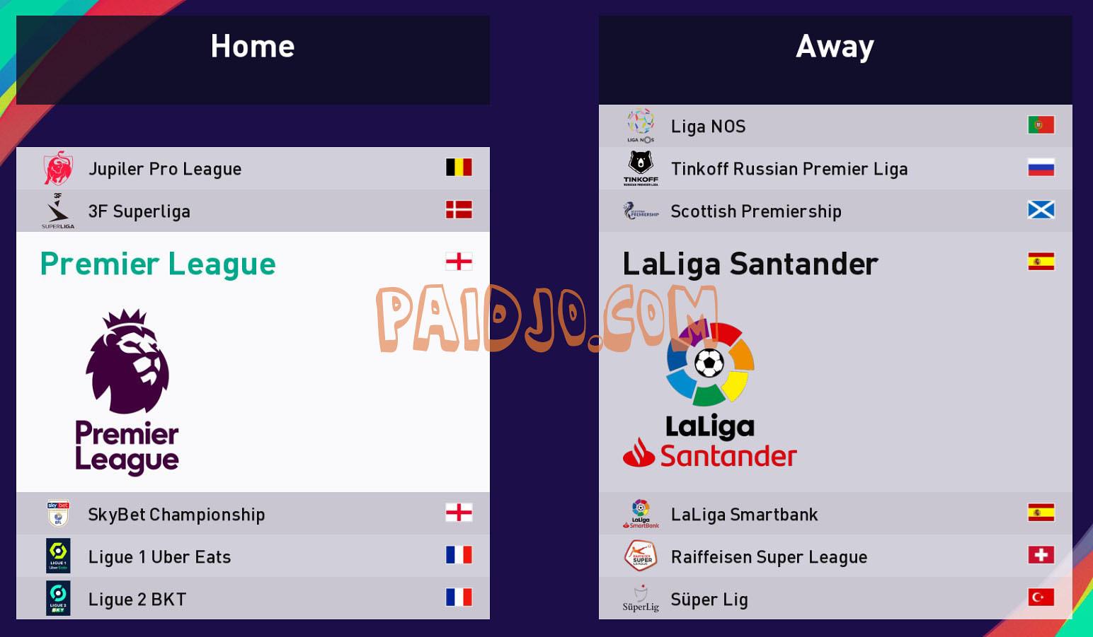 League PES 2021 | PAIDJO.COM