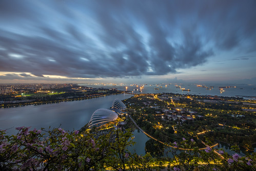 singapore asia mornign morning dawn sunrise cloud cloudy canon eosr gardensbythebay landscape scenery