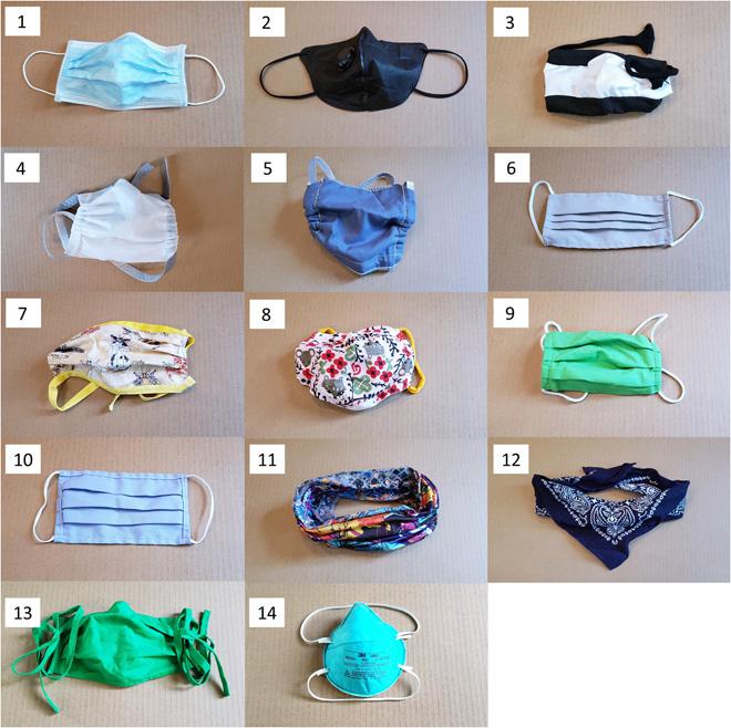 különböző textil maszkok