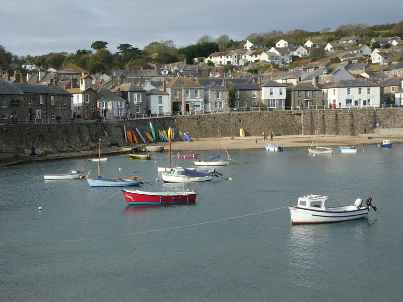 Mousehole beach and harbour