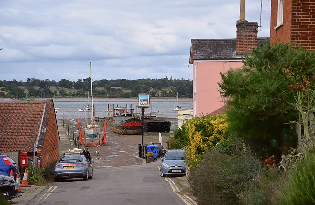 The view across the River Orwell at Pin Mill, Suffolk. 30 08 2020