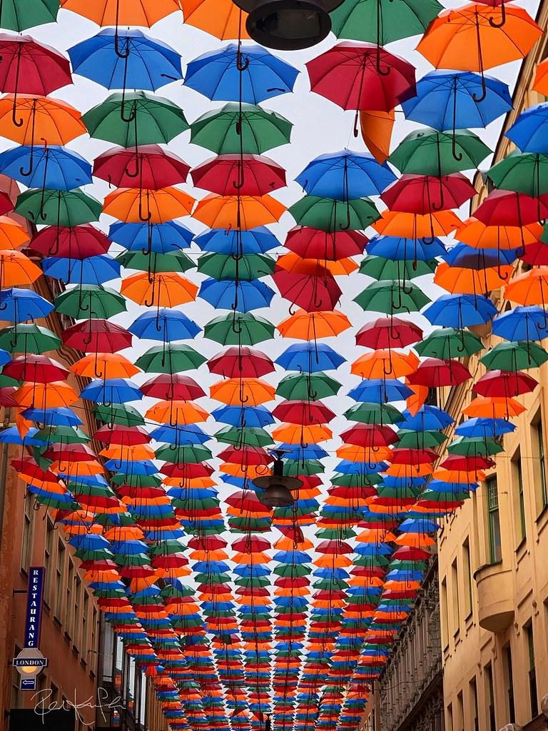 Umbrella Sky Project (Stockholm, Sweden)