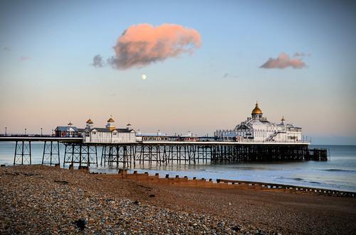 eastbourne pier south coast love light landscape plot19 photography england uk britain coastal sea seaside seascape clouds mood moon
