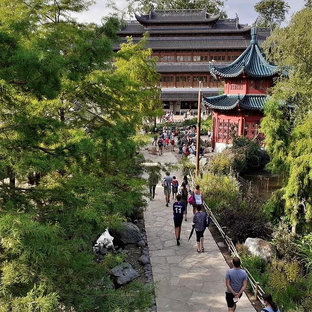 View of Chinese garden in Pairi Daiza