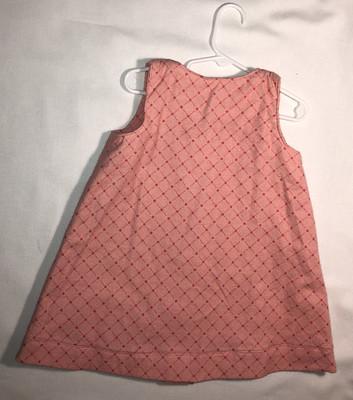 Pink plaid flannel jumper, size 3
