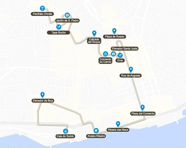 Primer día de la ruta de 4 días por Lisboa