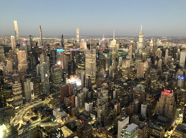 City lights from the Edge - Hudson Yards, New York City