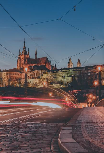 Prague castle at blue hour