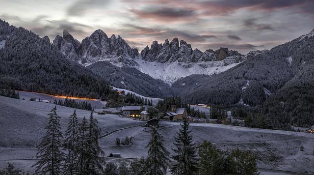 Dolomites...St.Magdalena...before sunrise...