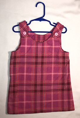 Shades of Pink plaid flannel jumper, size 3