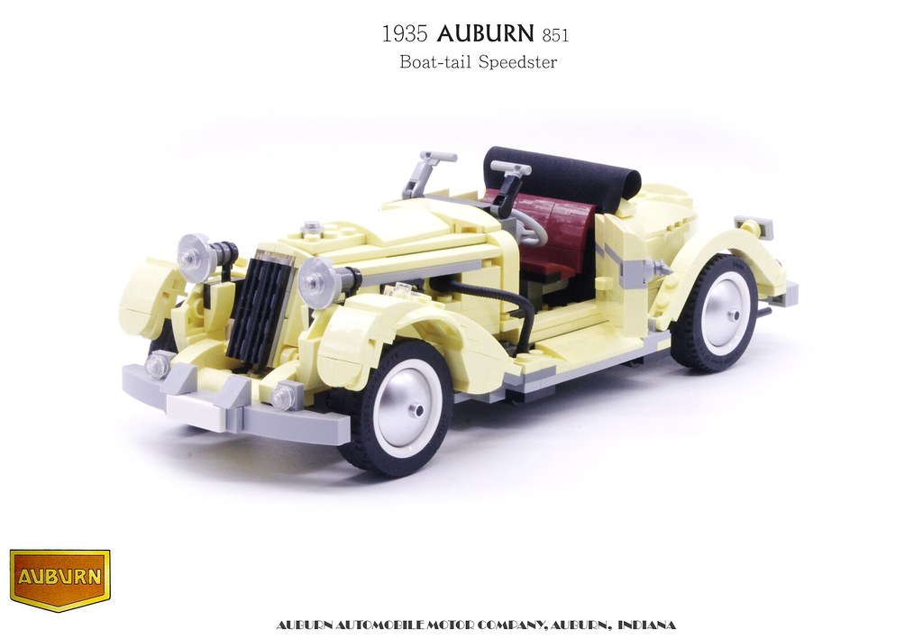 Auburn 851 Boat-tail Speedster (1935) - Rebrick of FIAT 10271
