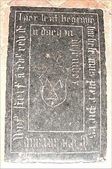 The wife of Pier Piers (ledger stone in Dutch, 1625)