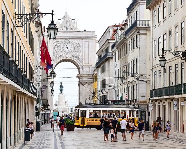 Rua Augusta en Lisboa