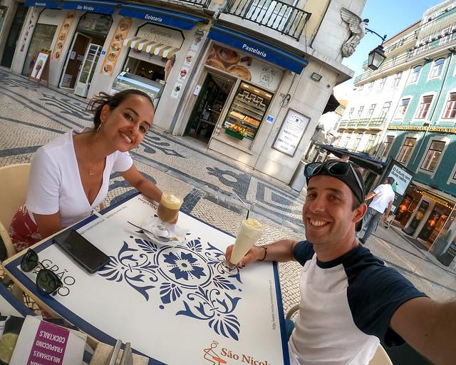 Cafetería en la Rua Augusta de Lisboa