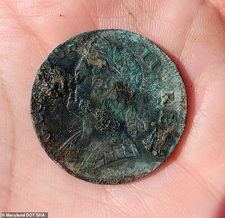 coin found at newtown maryland slave quarters | by Numismatic Bibliomania Society