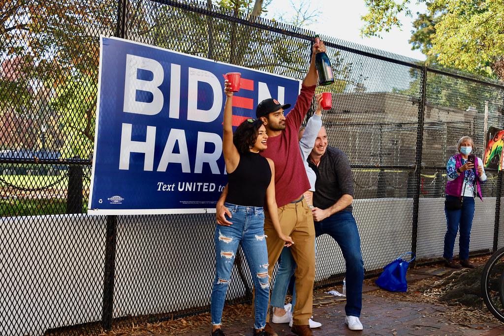 toasting Biden Harris
