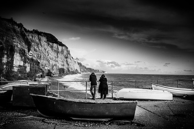 Together on Sidmouth Seafront