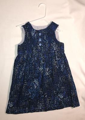 Blue corduroy jumper, size 6