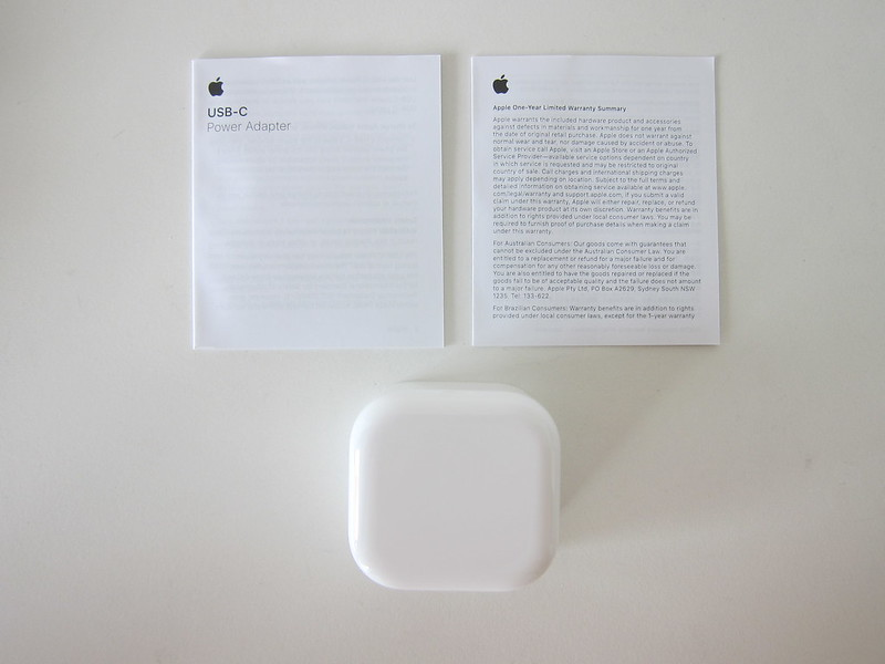 Apple 20W USB-C Power Adapter - Box Contents