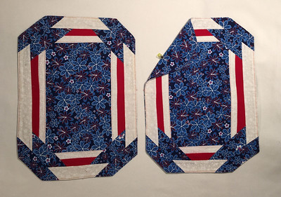 Set of 2 - red, white, and blue