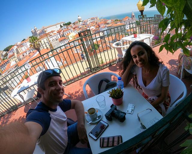 Café en el mirador de Santa Lucia