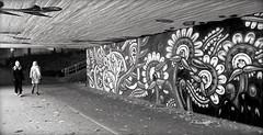 Girls in tunnel